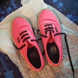 Neon Pink Vans w/ Black Laces